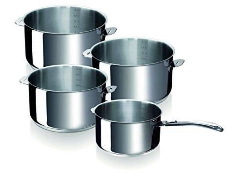 Série de 4 casseroles Beka Evolution (avec manche amovible) - Tous feux dont induction