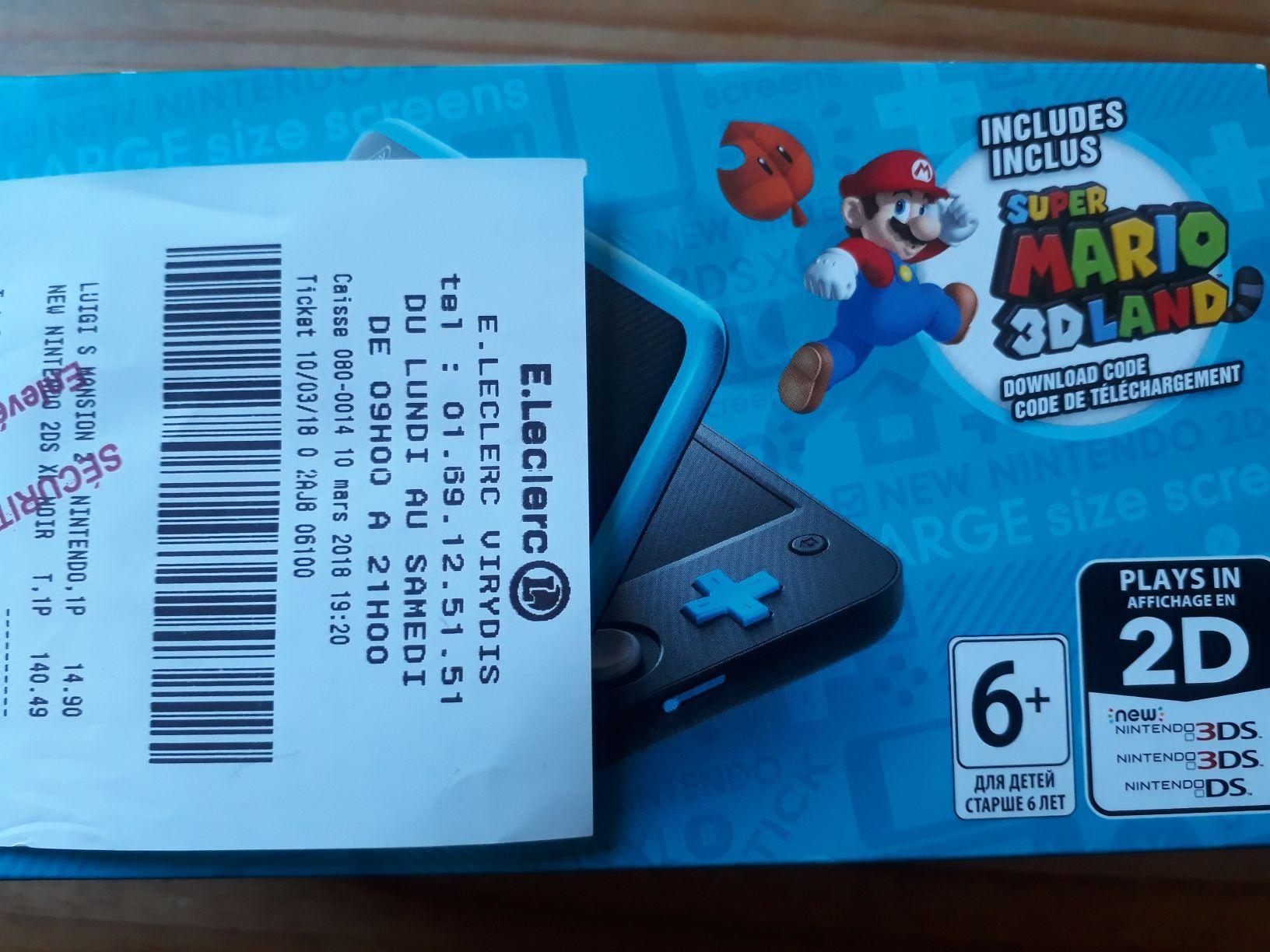 Pack console Nintendo New Nintendo 2DS XL+ Super Mario 3D Land (Dématérialisé)  - Viry (91)