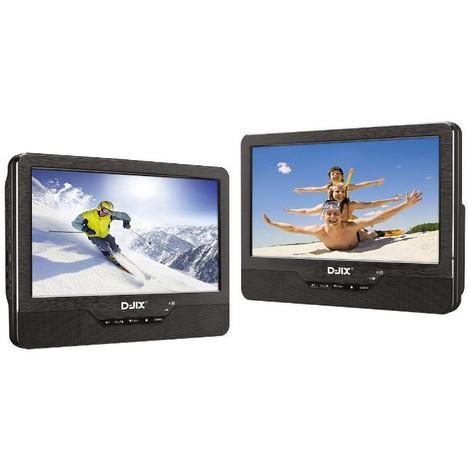 """Lecteur DVD / Divx 9"""" portable D-JIX PVS 905-69HDP double écran"""