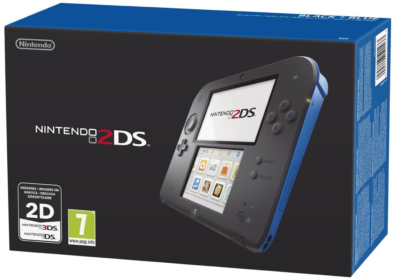 Console Nintendo 2DS noire/bleue ou blanche/rouge