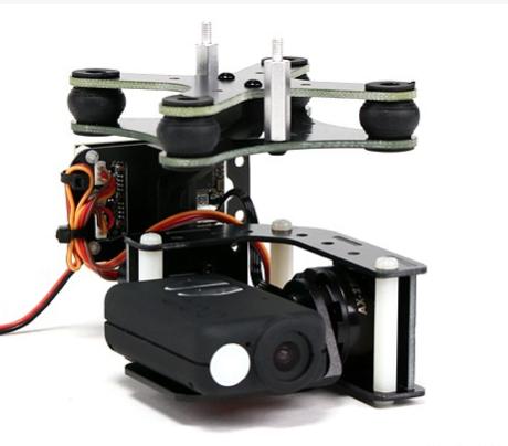 Nacelle 2 axes + controleur tarot + Moteurs (kit) pour camera mobius