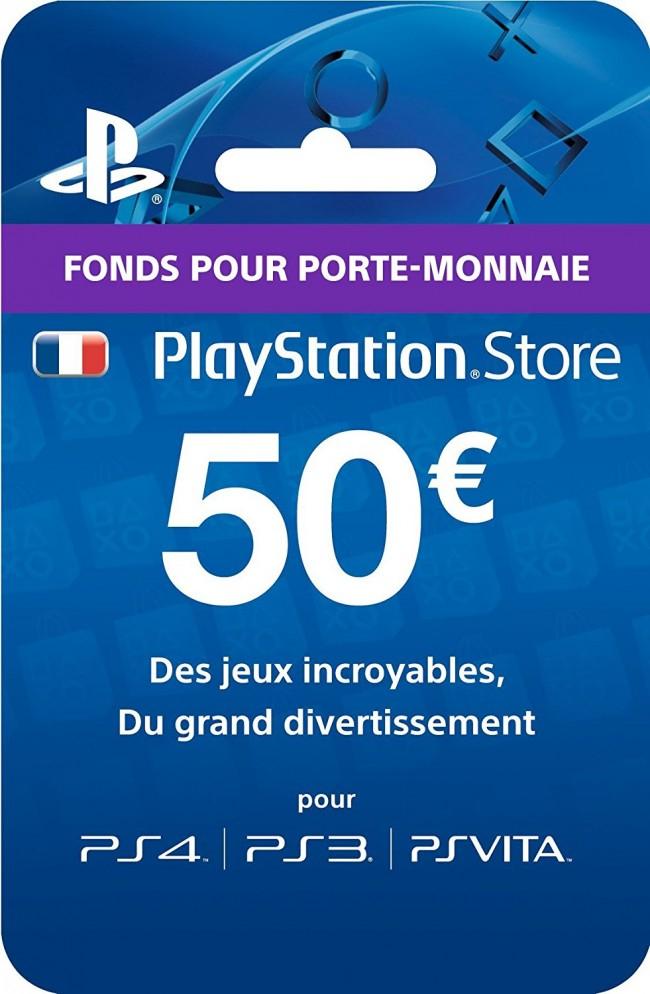 Code Sony PlayStation Store France - 50€ de Crédits pour PS3, PS4, PS Vita & Playstation Plus (Dématérialisé)