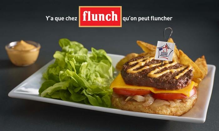 20% de réduction sur votre addition Flunch pour 1€, sans minimum, midi et soir