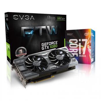 Processeur Intel i7-7700K + Carte graphique EVGA GTX 1080 FTW - 8Go