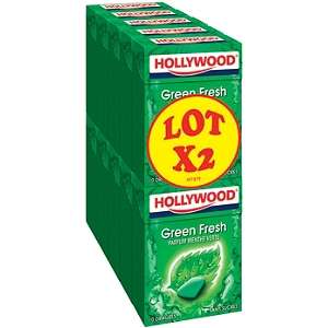 Lot de 10 Paquets de Chewing-gums Hollywood Green Fresh