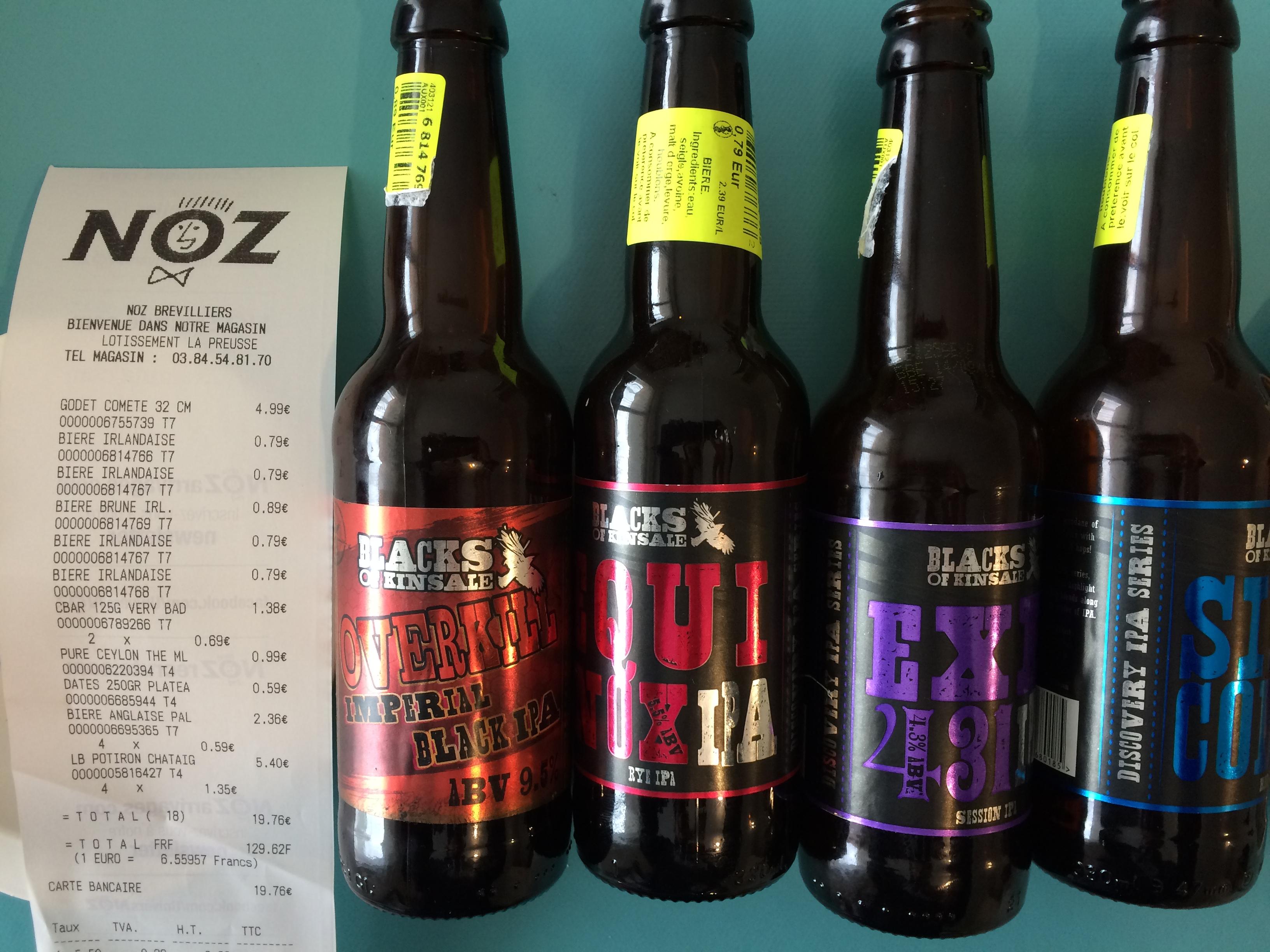 Déstockage de Bière Irlandaise - Ex: IPA Blacks of Kinsale à 0.79€ - Brevilliers (70)