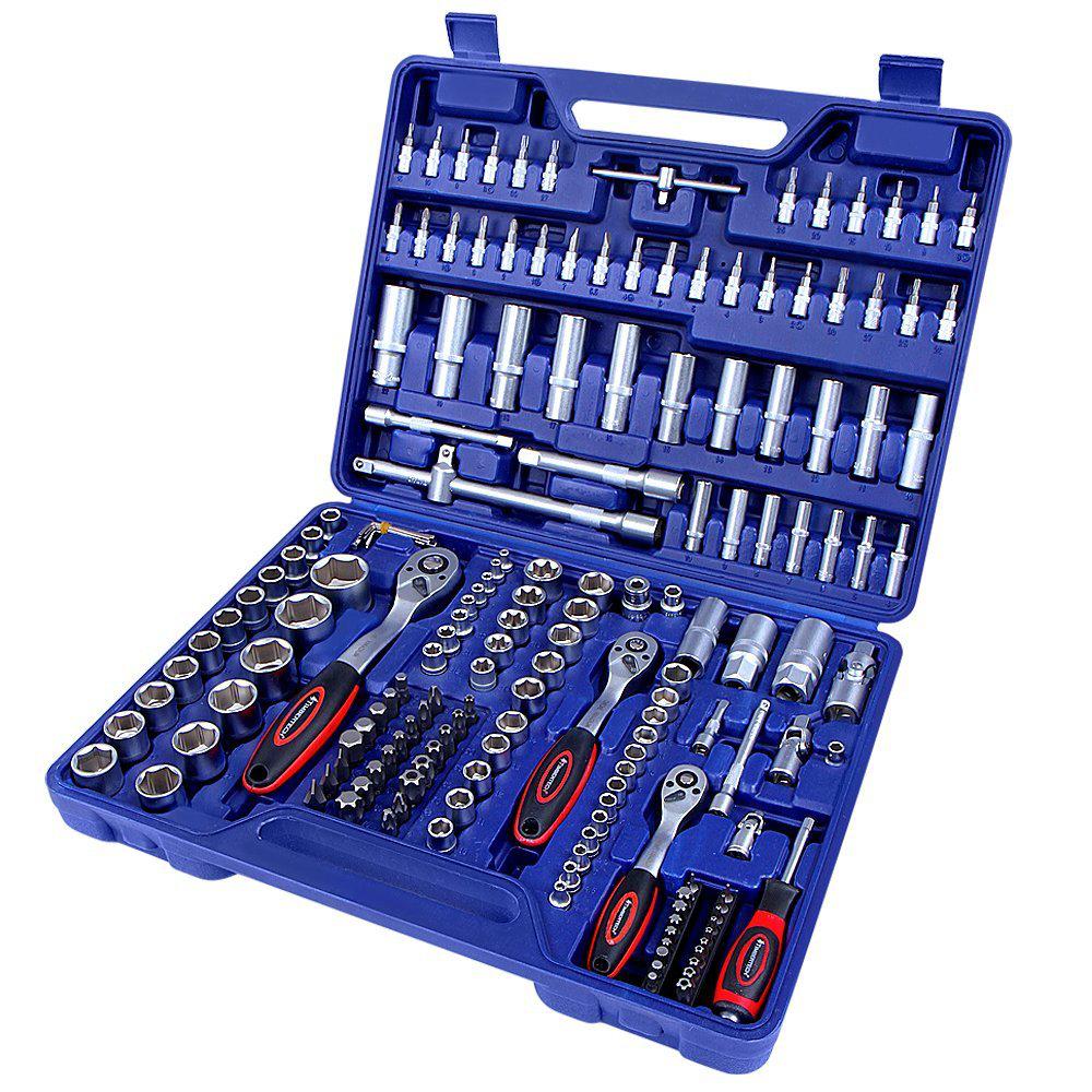 Set de clés à douille 171 pièces - en acier chrome vanadium