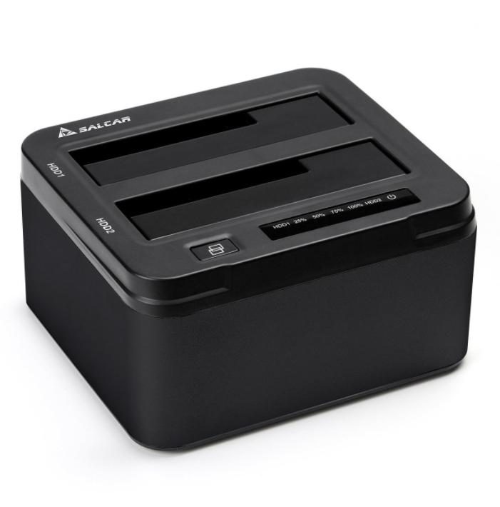 """Station d'accueil Salcar USB 3.0 pour Disques durs 2.5""""/3.5"""" - 2 Baies (Vendeur tiers)"""