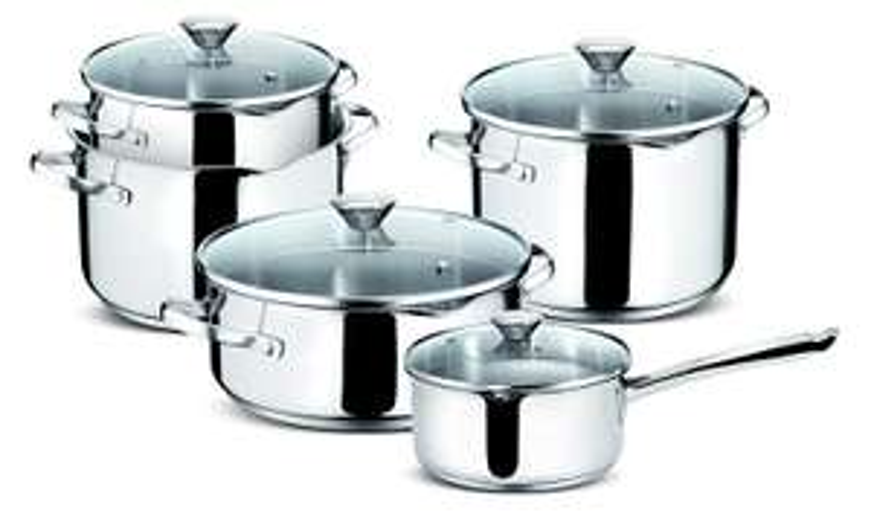 Lot de casseroles 6 pièces Lagostina Smart en acier inoxydable 18/10