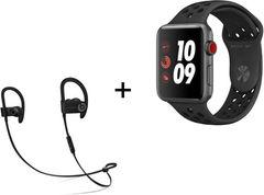 Apple Watch serie 3 Nike+ 42mm (GPS + 4G) + Ecouteurs wireless Powerbeats 3 (frontaliers Suisses)