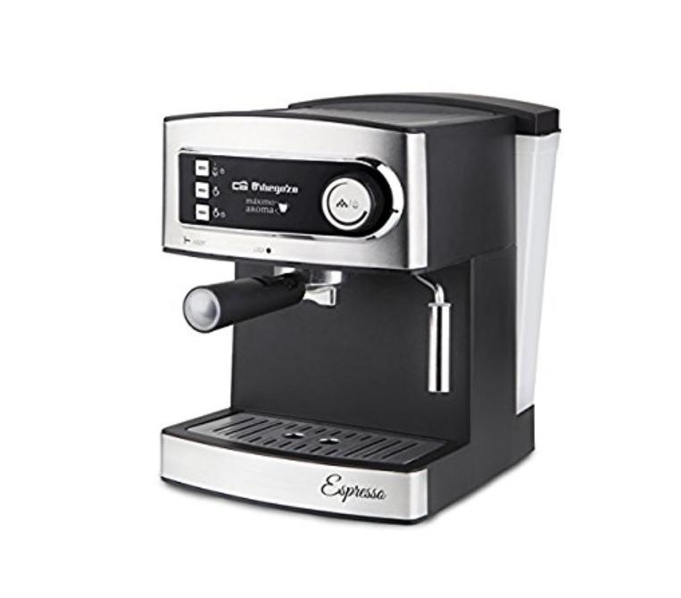 Cafetière pour expresso/cappuccino  Orbegozo ex 3000(850W, 230V, 15bar, réservoir 1.60Litres, argent et noir)