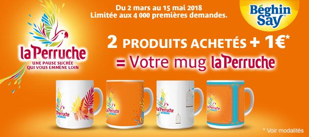 Mug la Perruche à 1€ pour l'achat de deux produits la Perruche