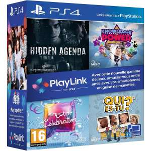 Coffret PlayLink - Hidden Agenda + Knowledge is Power + Qui es-tu ? + Singstar Celebration sur PS4 (via 34.93€ sur la carte de fidélité) - Quetigny (21)