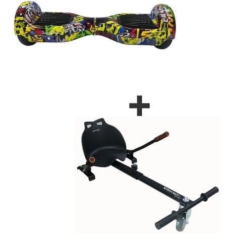 """Hoverboard 6.5"""" Gyroboarder M2 + Kart"""