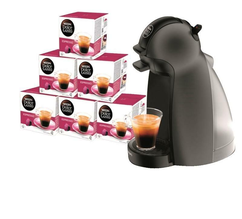 Machine à café Dolce Gusto + 96 capsules soit la machine à 14€
