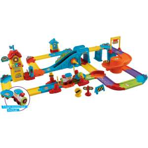Jouet Vtech Mon circuit train interactif (+ Romain, le p'tit train) - Tchou Tchou Bolides
