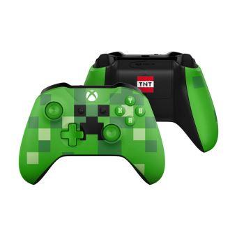 Manette Sans-fil Microsoft Édition Minecraft Creeper ou Pig compatible Xbox One et PC - Bluetooth + Destiny 2 avec Artbook sur Xbox One +  Abonnement Xbox Live Gold 14 Jours