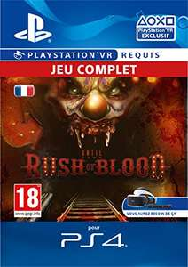 Until Dawn: Rush of Blood sur PS4 VR (démat)
