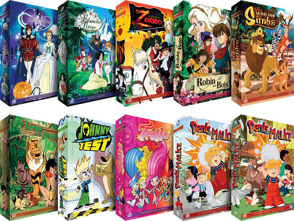 Pack de 10 Coffrets DVDs Collection Enfants Série TV - 417 épisodes