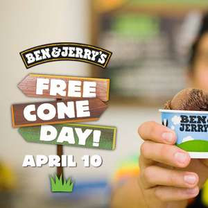 Free Cone Day 2018 - Distribution gratuite de glaces Ben & Jerry's