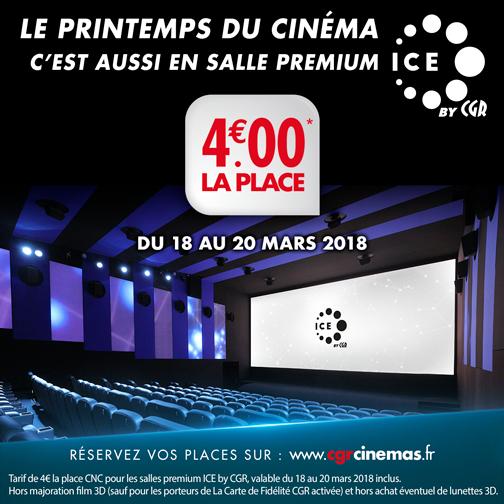 Place de cinéma en Salle ICE - CGR Cinéma Brignais (69)