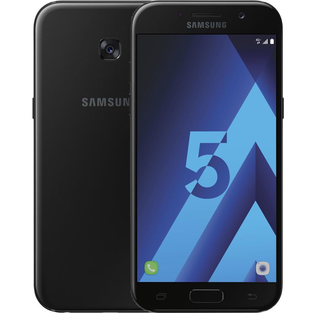 """Smartphon 5.2"""" Samsung Galaxy A5 (2017) - Exynos 7880, 3 Go de RAM, 32 Go, noir (via ODR de 50€)"""