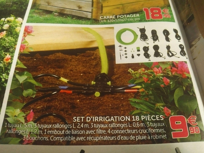 Set d'irrigation Goutte à goutte 18 pièces - 36 plantes