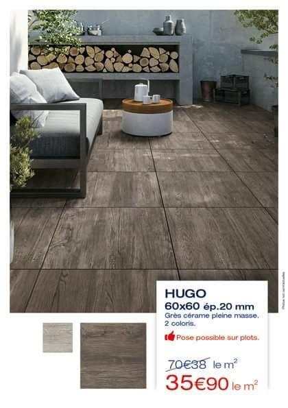 Carrelage extérieur Hugo - 60 x 60, ép.20 mm, le m²