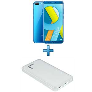 "Smartphone 5.65"" Honor 9 Lite (4G) - Bleu + Coque transparente + Powerbank 6600mAh (Via ODR 30€)"