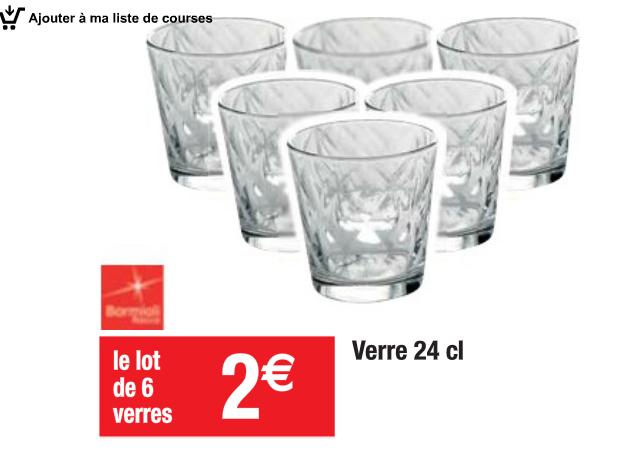 Lot de 6 verres - 24cl
