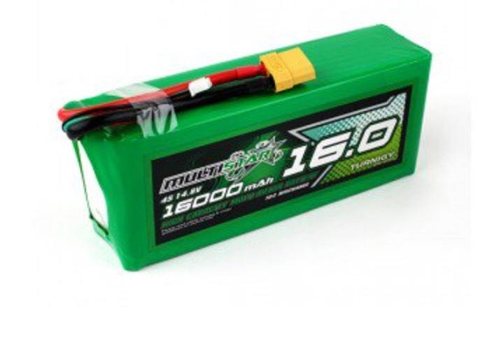 Batterie Multistar haute autonomie - 16000mAh, 4S, 10C