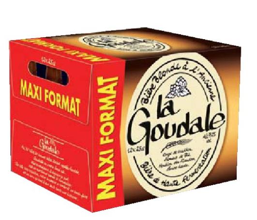 Pack de 12 bières blonde La Goudale - 12 x 25cl