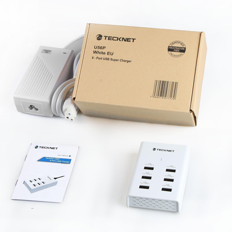 Chargeur Secteur intelligent TeckNet 63W 5V/12.6A 6-Ports