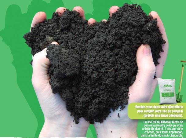 Distribution de compost gratuit dans les déchetteries (Oise 60)