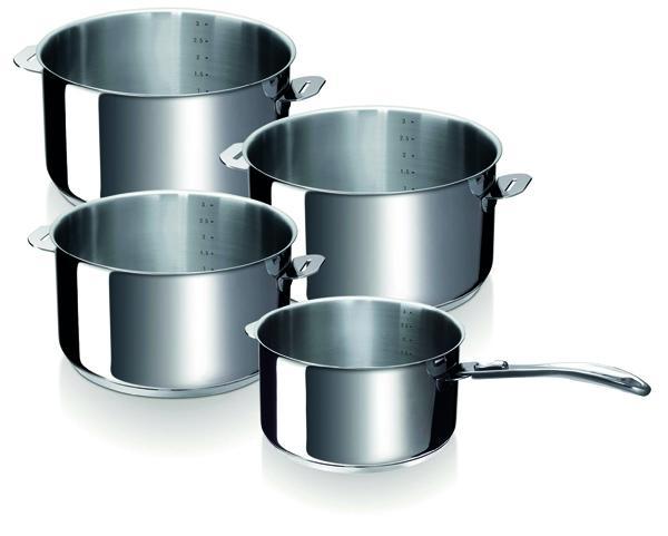 Série de 4 casseroles Bekaline Evolution + manche amovible