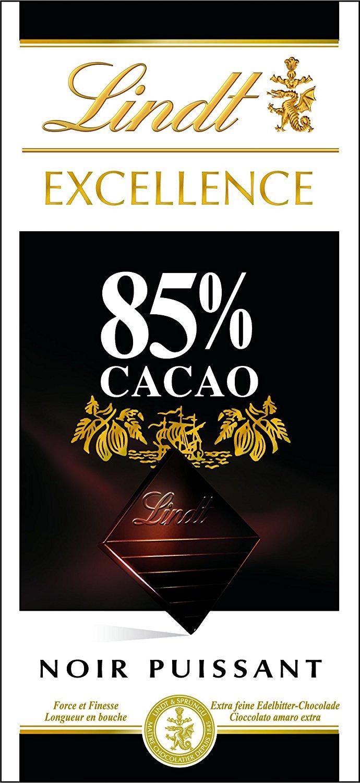 Tablettes de Chocolat Lindt Excellence Noir 85% 100 g - Lot de 5