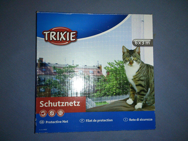 Filet de protection transparent pour chat Trixie - 6x3 m