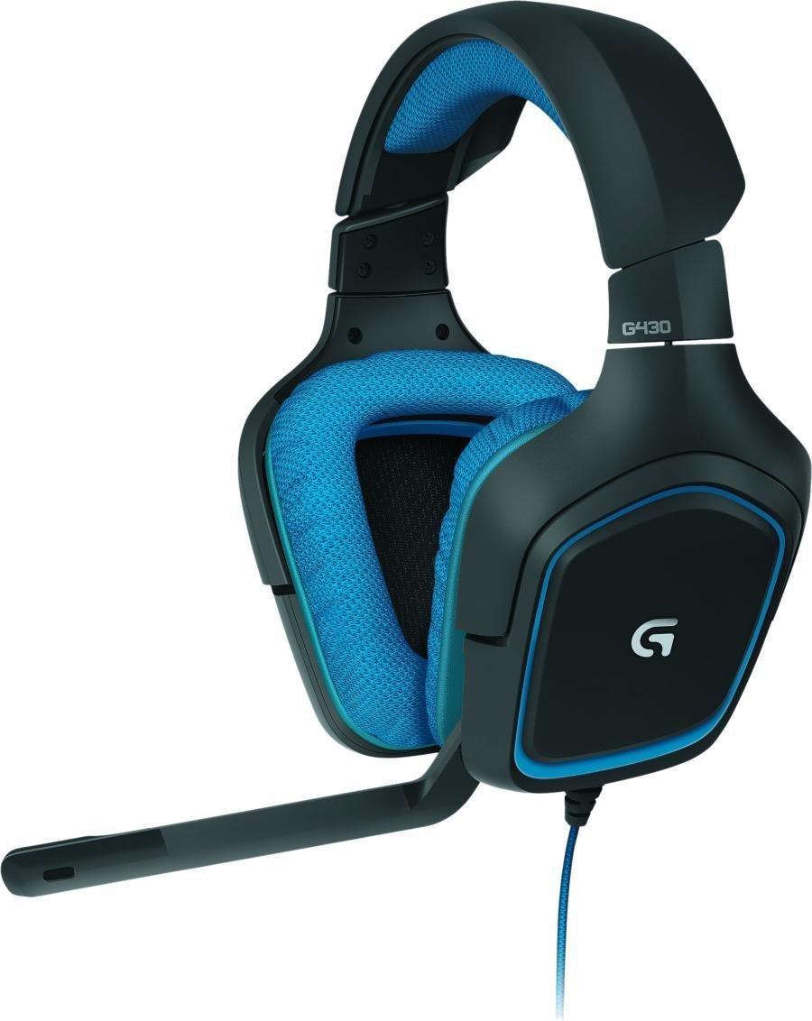 Casque Gaming Logitech G430  Noir / Bleu compatible PC, PS4, Xbox et Nintendo Switch - Surround 7.1 Surround
