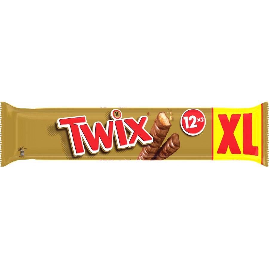 1 paquet de 12 Twix ou Snickers (via 1.78€ sur la carte fidélité)