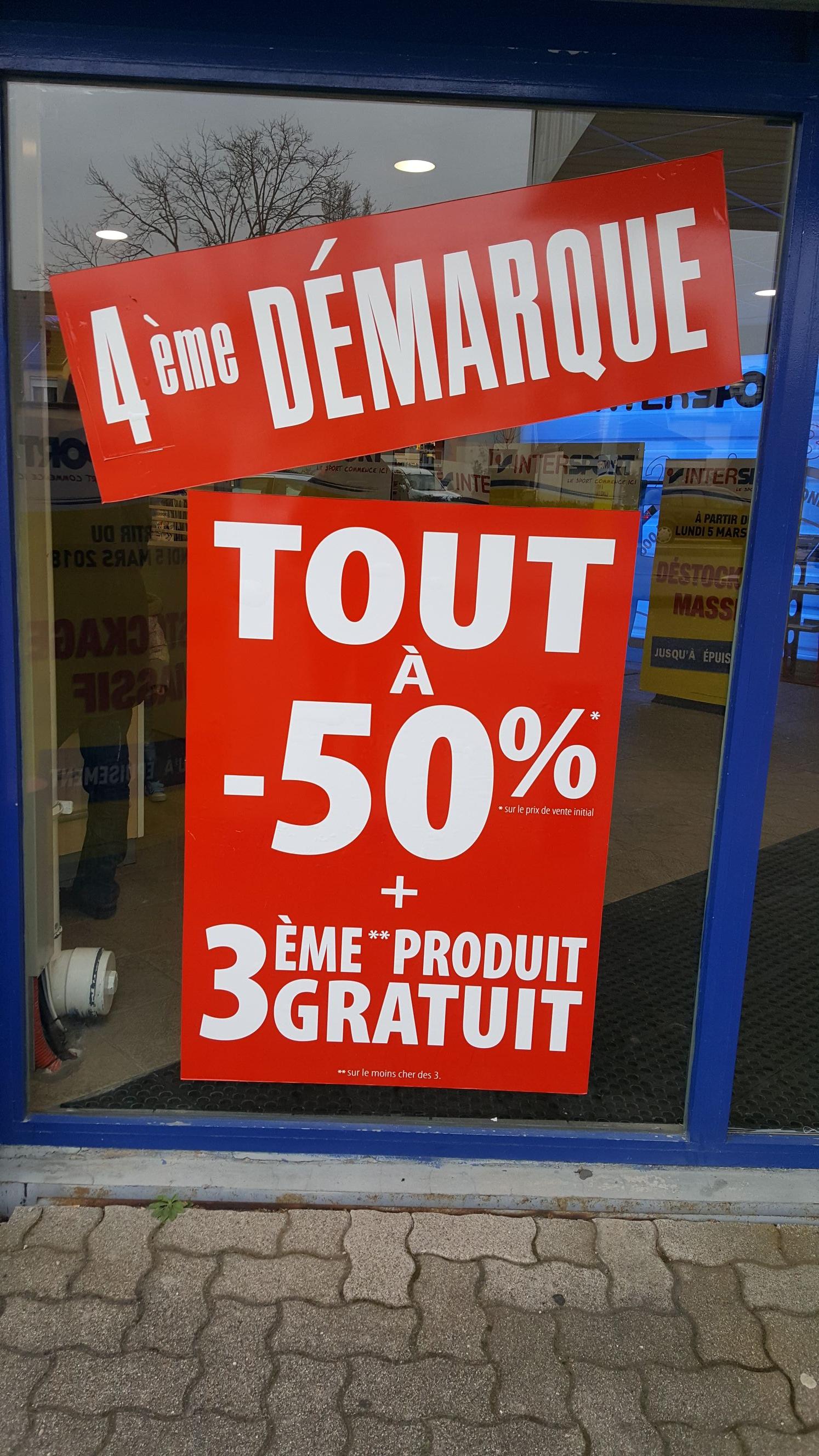 50% de réduction sur tout le magasin + 3ème produit gratuit - Strasbourg Hautepierre (67)