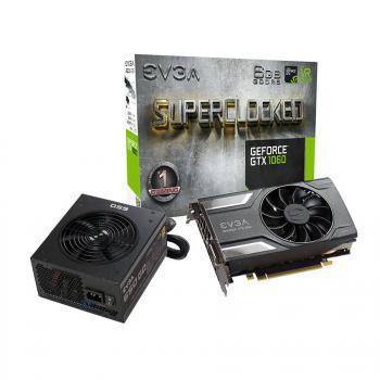 Carte graphique EVGA GeForce GTX 1060 SC Gaming - 6 Go + Alimentation SuperNova GQ - 650W