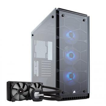 Boîtier PC Corsair Crystal 570X RGB + Kit watercooling Corsair h100i v2