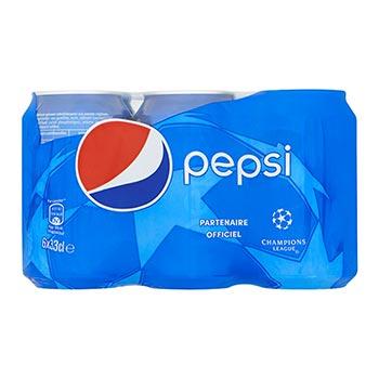 Pack de 6canettes Soda Pepsi Regular