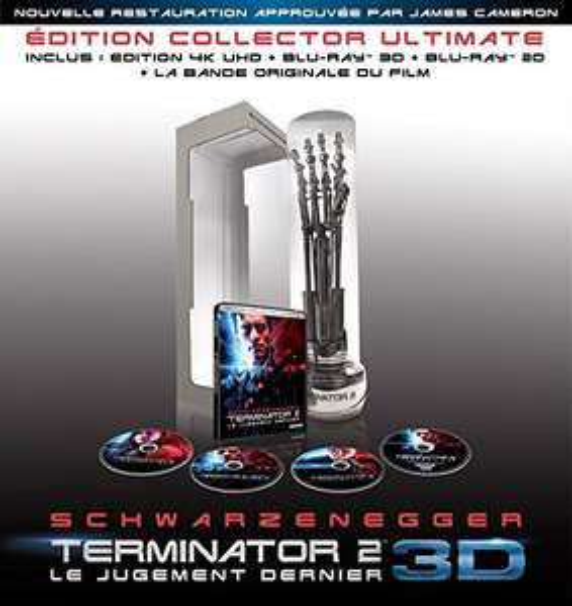 [Prime] Coffret Blu-ray 4K UHD Terminator 2 : Le Jugement dernier 3D - Édition Collector Ultimate (+ Blu-ray 3D + Blu-ray + figurine bras T-800)