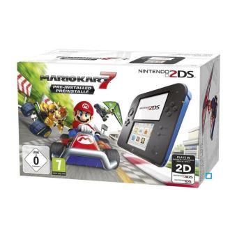 Sélection de Consoles Nintendo - Ex: 2DS + Mario Kart 7 + L'infernal programme d'entraînement cérébral du Docteur Kawashima