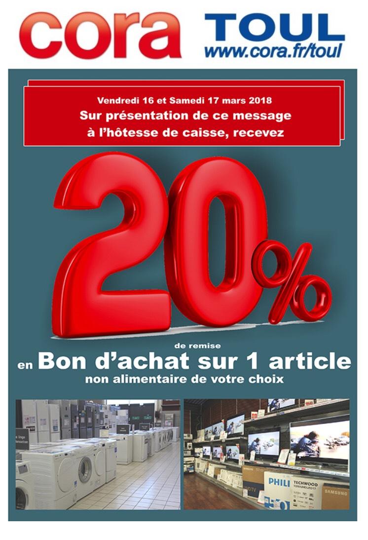 20% de remise en bon d'achat sur un article de votre choix (Non alimentaire) - Toul (54)