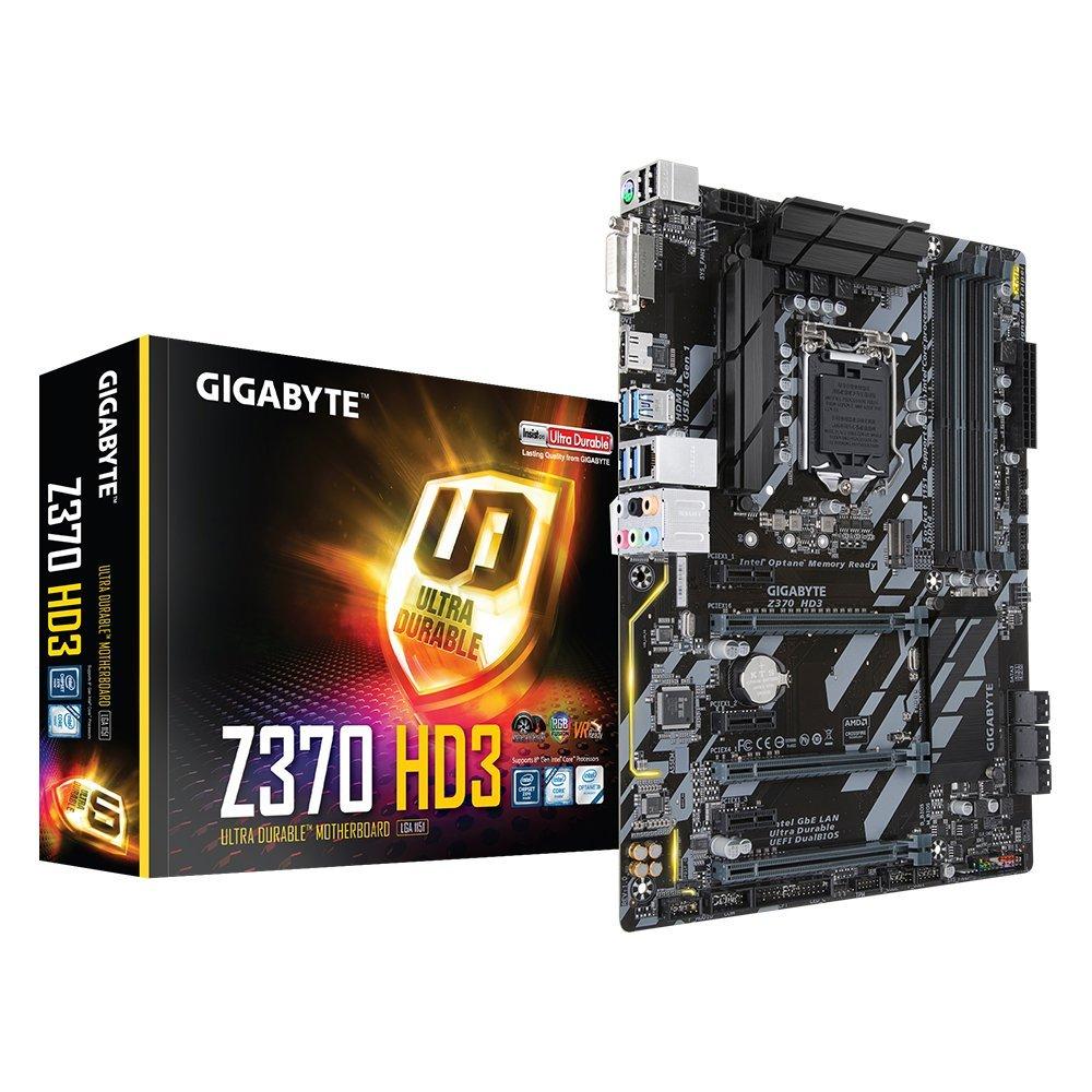 Carte mère Gigabyte Z370 HD3 Intel Z370 LGA 1151 (vendeur tiers expédié par Amazon)