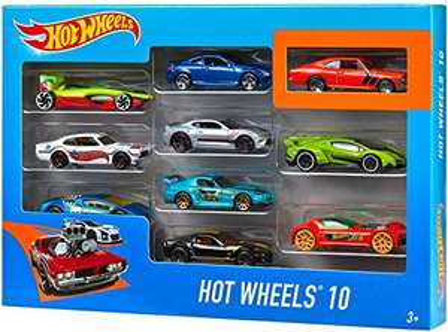 Coffret 10 Voitures Hot Wheels