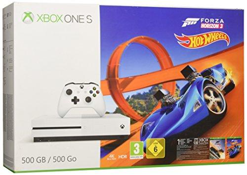 Console Microsoft Xbox One S 500 Go + Forza Horizon 3 + Hot Wheels + 1M de Gamepass