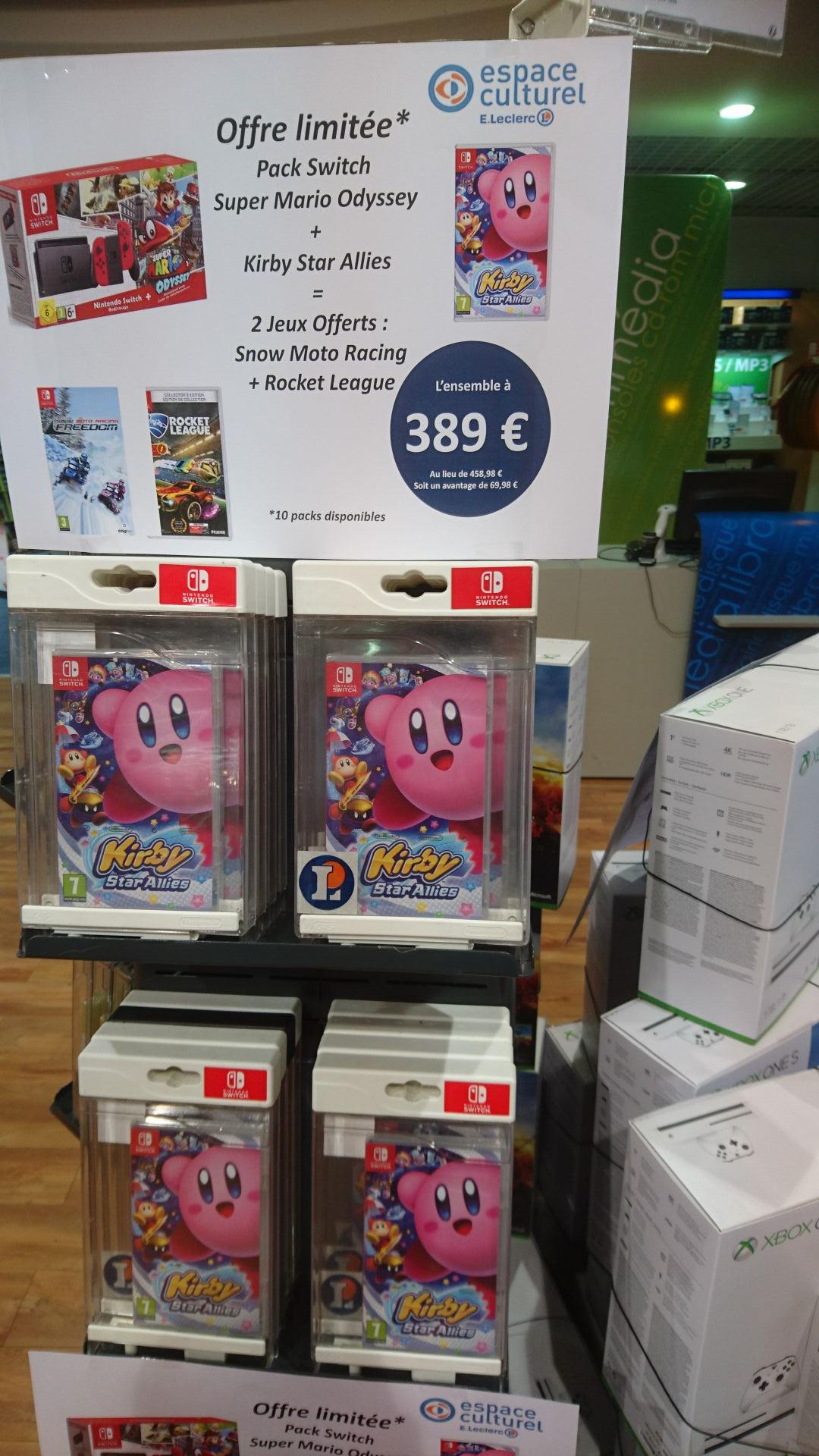 Pack Nintendo Switch Super Mario + Kirby Star Allies + 2 Jeux offerts (Snow Moto Racing + Rocket League) (Centre-Val de Loire 45)